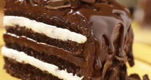 صوره كيكة الشوكولاته بالصوص هشة ولذيذة بالصور من مطبخي , صور كيك شيكولاته