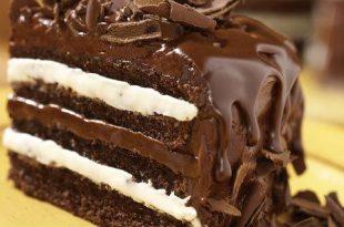 صور كيكة الشوكولاته بالصوص هشة ولذيذة بالصور من مطبخي , صور كيك شيكولاته