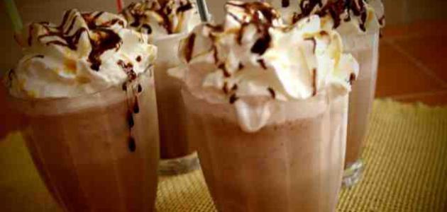 صورة طريقة عمل الموكا البارد , طريقة تحضير مشروب الشوكولاته