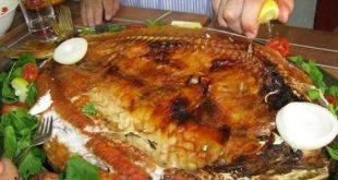 صورة شوي السمك بالفرن , سمك بلطي مشوي بالفرن بدون رده مع الطماطم والفلفل