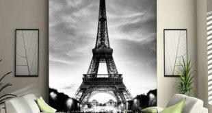 صوره ورق جدران برج ايفل , برج ايفل على جدار الحائط