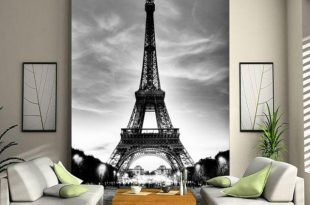 صورة ورق جدران برج ايفل , برج ايفل على جدار الحائط
