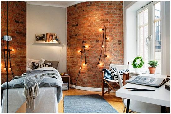 صور ديكورات حوائط طوب حرارى , اشيك الحوائط الديكورية بالطوب الحراري