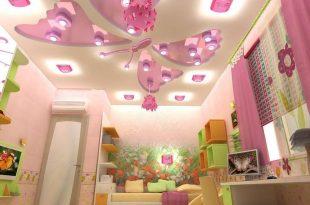 صورة ديكورات جبس غرف نوم بنات , اشيك وارق ديكورات لغرفة نوم البنات