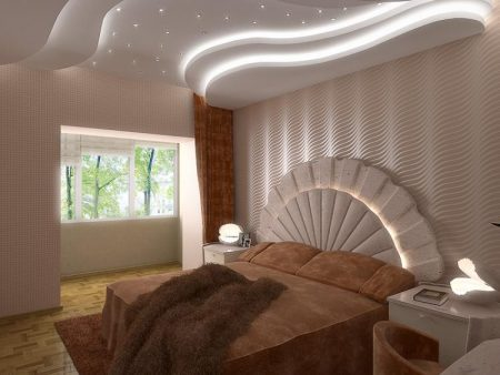 بالصور ديكور جبس غرف نوم , ديكورات اسقف وحوائط غرف النوم للعرسان 2922 2
