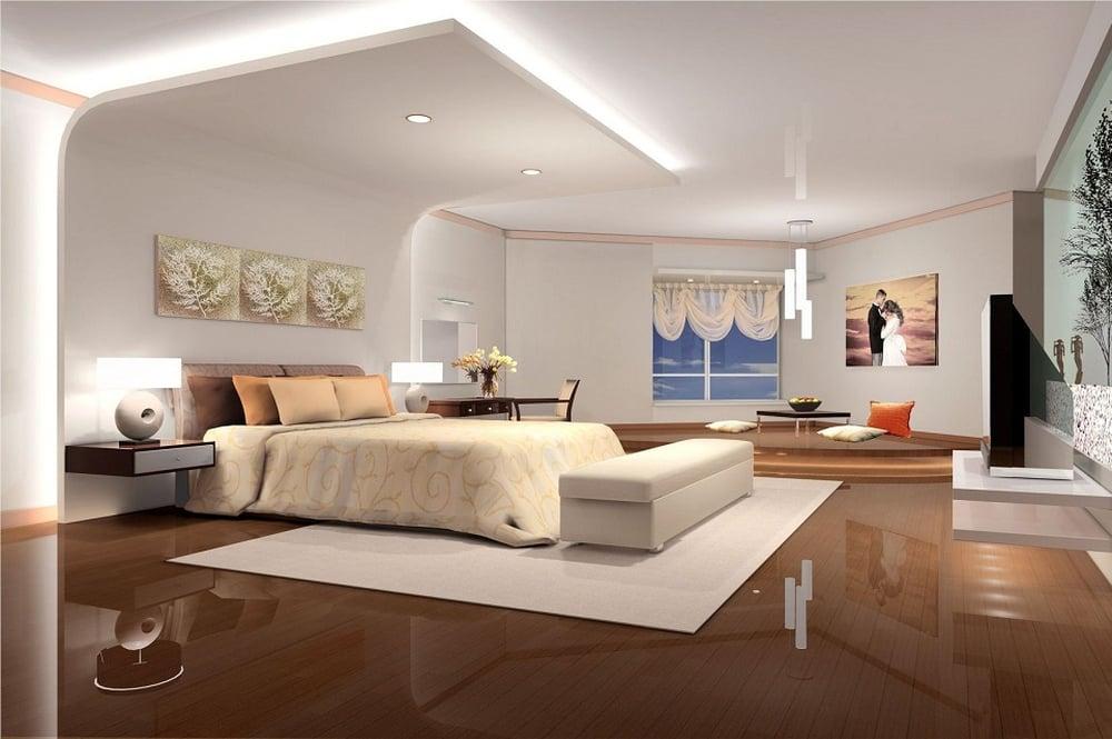 بالصور ديكور جبس غرف نوم , ديكورات اسقف وحوائط غرف النوم للعرسان 2922 8