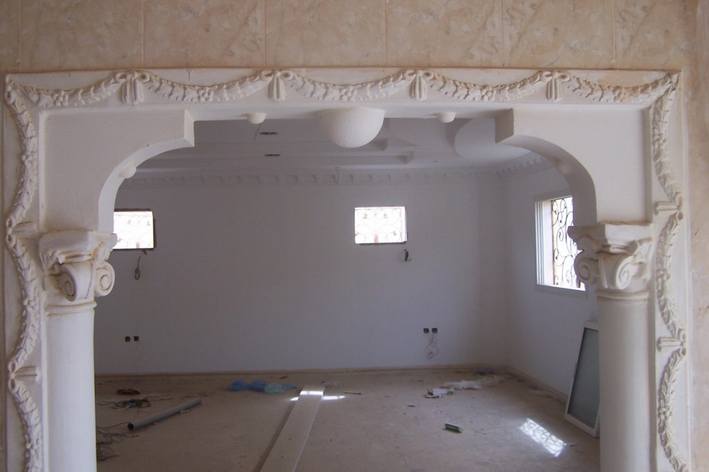 بالصور احدث ديكورات الجبس , صور كرانيش جبس للجدران والسقف 2939 5