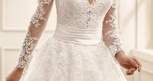 صوره اشيك فساتين زفاف , صور اجمل فساتين الفرح للعرايس
