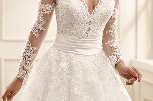 بالصور اشيك فساتين زفاف , صور اجمل فساتين الفرح للعرايس 5661 9 310x205