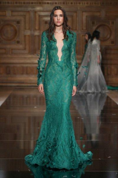 بالصور فساتين باللون الاخضر , اجمل الاطلالات بفساتين لونها اخضر غاية في الجمال 5663 2