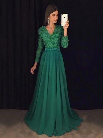 بالصور فساتين باللون الاخضر , اجمل الاطلالات بفساتين لونها اخضر غاية في الجمال 5663 6