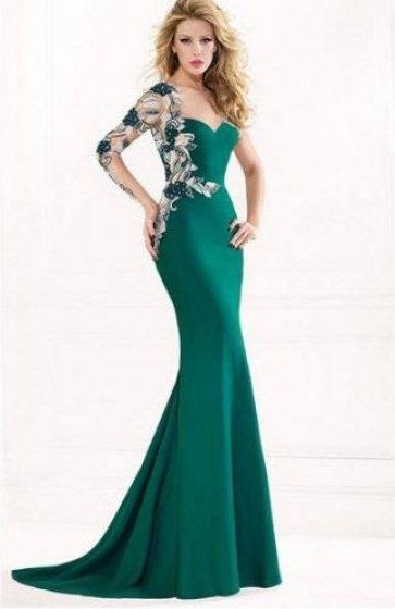 بالصور فساتين باللون الاخضر , اجمل الاطلالات بفساتين لونها اخضر غاية في الجمال 5663 7