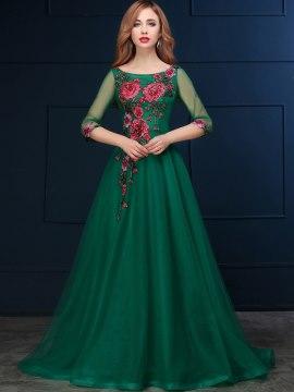 بالصور فساتين باللون الاخضر , اجمل الاطلالات بفساتين لونها اخضر غاية في الجمال