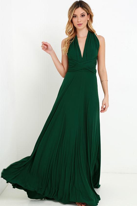 صوره فساتين باللون الاخضر , اجمل الاطلالات بفساتين لونها اخضر غاية في الجمال