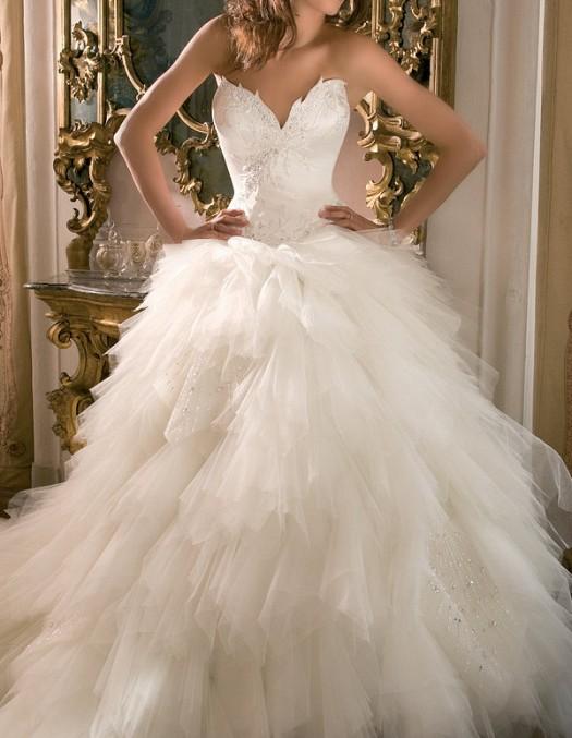 بالصور اجمل فساتين اعراس , احلى فساتين زفاف ناعمة 5683 8