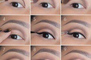 صورة طريقة مكياج العيون , للمبتدئين تعلمي طريقة رسم العيون بالمكياج