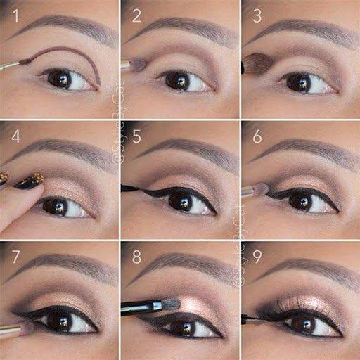 صوره طريقة مكياج العيون , للمبتدئين تعلمي طريقة رسم العيون بالمكياج