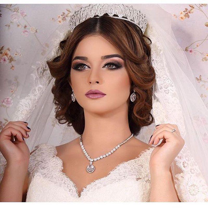 صوره تسريحات ومكياج عرايس , احلى مكياج وتسريحات لعروس 2019