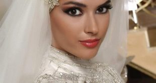 صوره طرحات عرايس محجبات , احلى لفات طرح لعروس جميلة
