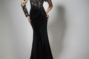 صوره فساتين مخمل طويله , اجمل الفساتين المخملية لاطلالة ساحرة