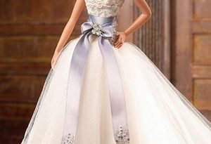 صوره فساتين زفاف باربي , بالصور اجمل موديلات فساتين باربي للزفاف