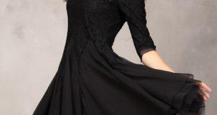 صوره فساتين سوداء قصيرة , احدث موديلات الفساتين السوداء القصيرة للصبايا