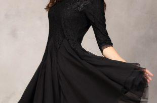 صور فساتين سوداء قصيرة , احدث موديلات الفساتين السوداء القصيرة للصبايا