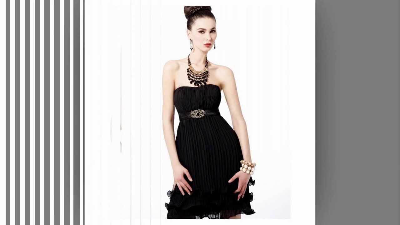 بالصور فساتين سوداء قصيرة , احدث موديلات الفساتين السوداء القصيرة للصبايا 5695 2