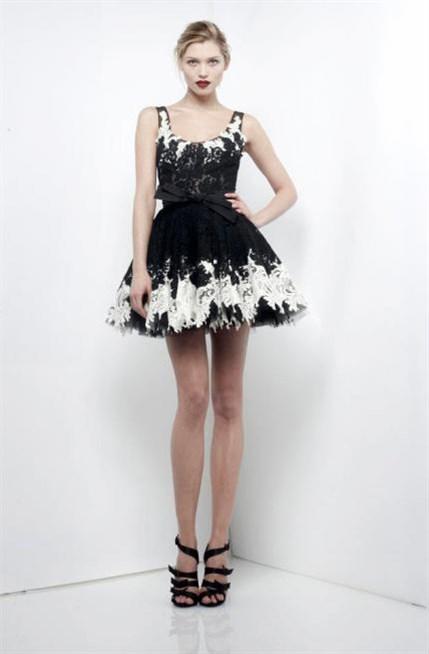 بالصور فساتين سوداء قصيرة , احدث موديلات الفساتين السوداء القصيرة للصبايا 5695 5