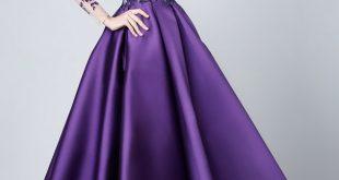 صورة فساتين سهره فخمه كويتيه , اجمل واروع فستان سهرة كويتي