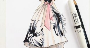 رسم فساتين ازياء رسم فساتين للمبتدئين , كيفية رسم تصميم الفساتين