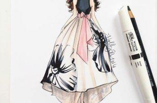 صورة رسم فساتين ازياء رسم فساتين للمبتدئين , كيفية رسم تصميم الفساتين