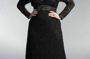 صورة فساتين سوارية للمحجبات البدينات , فساتين سواريه سوداء للسمينات