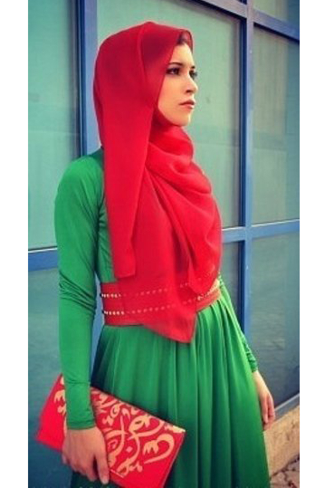 بالصور فساتين قطن طويلة للمحجبات , فساتين خروج عالموضة تناسب حجابك 5170 3
