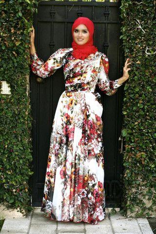 بالصور فساتين قطن طويلة للمحجبات , فساتين خروج عالموضة تناسب حجابك 5170 8