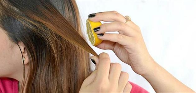 صوره خلطة لتفتيح الشعر , كيف تستخدمين الليمون لتفتيح لون شعرك