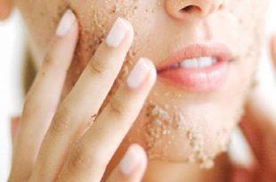 صورة قناع لتقشير الوجه , السكر للتخلص من الجلد الميت