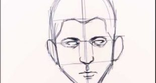 صورة طريقة رسم الوجه , خطوة بخطوة رسم الوجه للمبتدئين