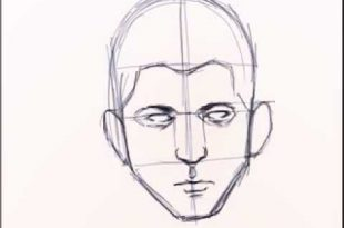 صور طريقة رسم الوجه , خطوة بخطوة رسم الوجه للمبتدئين