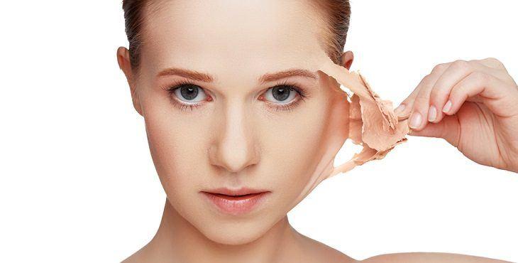 صوره اسباب تقشر الوجه , علاج تقشير البشرة
