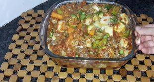 صورة صينية لحم بالخضار، صواني رئيسيه لوجبه الغذاء