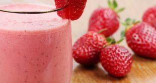 صورة عصير فراولة بالحليب، مشروبات شهيه ومنعشه