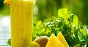 صورة عصير الاناناس والكيوي ، عصائر طبيعيه تساعدك علي خفض الوزن