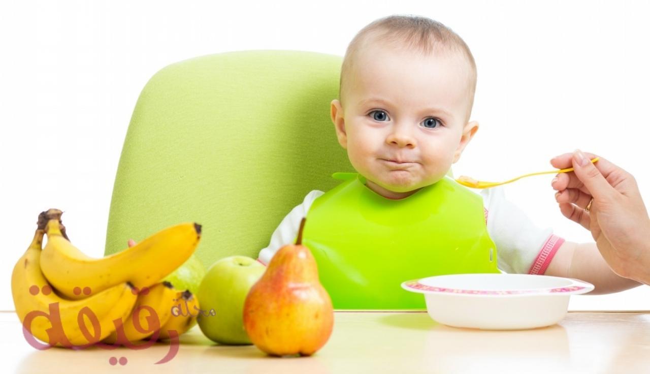 صورة غذاء الاطفال الرضع، اطعمه تسمن الاطفال وتساعد علي نموهم