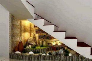 صورة ديكورات تحت الدرج، استغلال المساحه تحت الدرج بطرق ذكيه