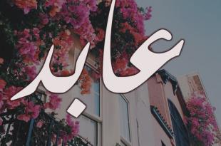 صورة معنى اسم عابد، ماهو المعنى لاسم عابد