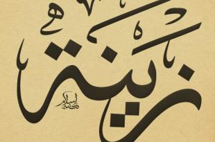 صورة معنى اسم زينه , صفات من يحمل اسم زينه