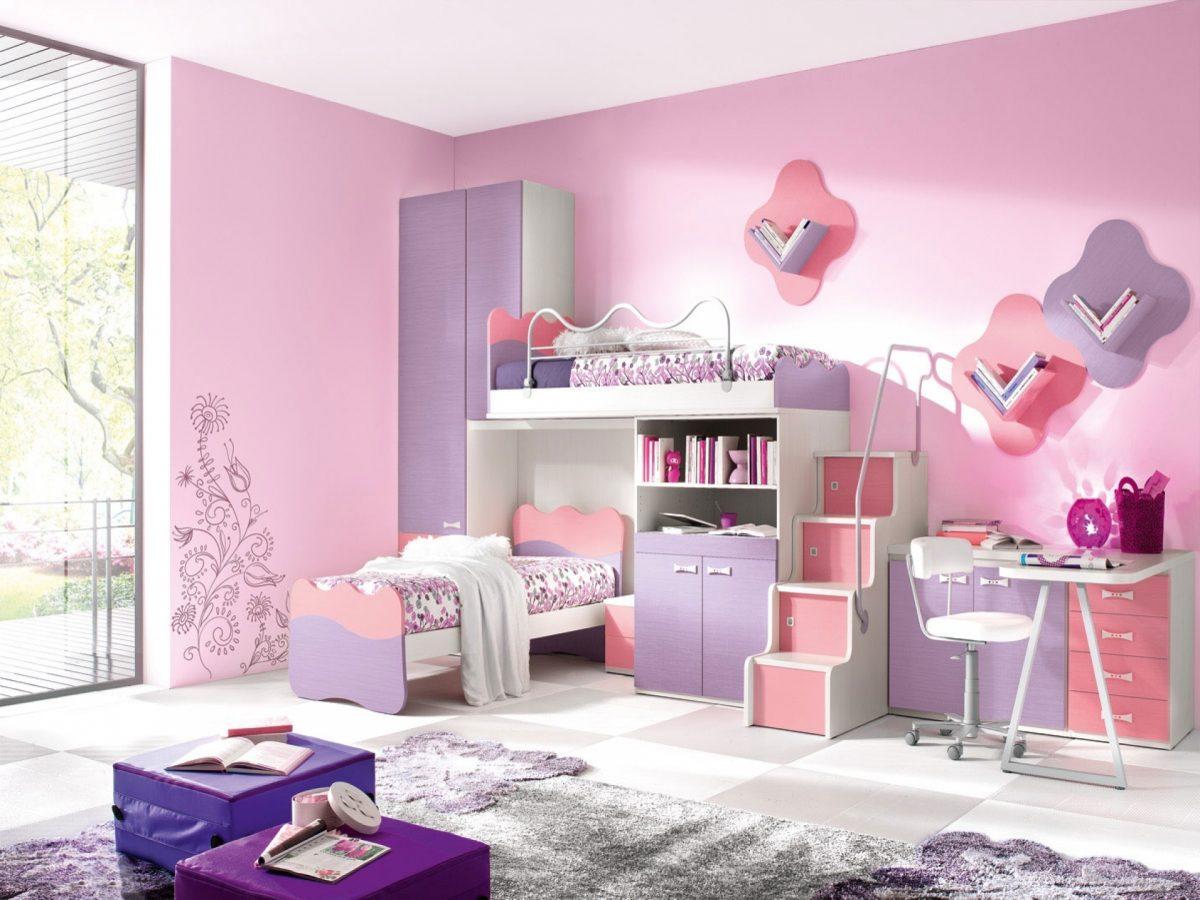 صورة ديكورات غرف نوم بنات, اجمل التصاميم كالقصور الاميرات
