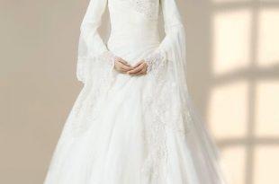 صورة اجمل فساتين زفاف للمحجبات, حلم كل بنت في العالم