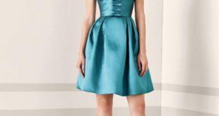 صورة فساتين ستان قصيرة, اشكال والوان الفساتين الستان القصيرة